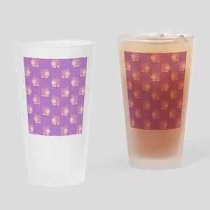 Pink Hippo Purple Flip Flops Drinking Glass