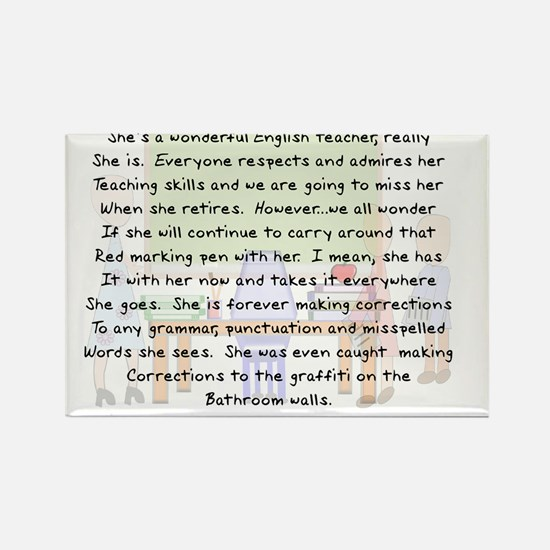 Story art English Teacher Rectangle Magnet