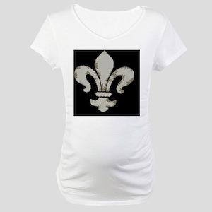 fleur de lis herbal embossed but Maternity T-Shirt