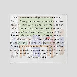 Story art English Teacher Throw Blanket