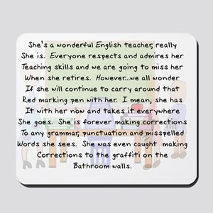 Story art English Teacher Mousepad