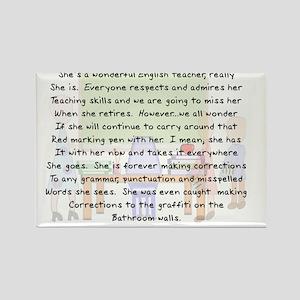 Story art English Teacher Rectangle Magnet