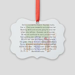 Story art English Teacher Picture Ornament
