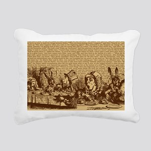 alice-vintage-border_bro Rectangular Canvas Pillow