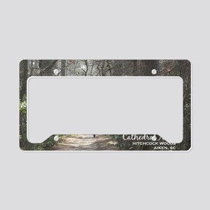 aiken post card cathedral ais License Plate Holder