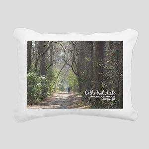 aiken post card cathedra Rectangular Canvas Pillow