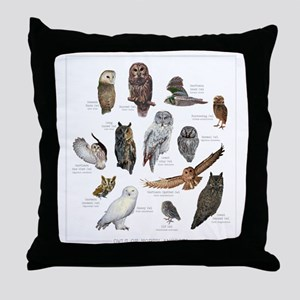 OwlSpecies Throw Pillow