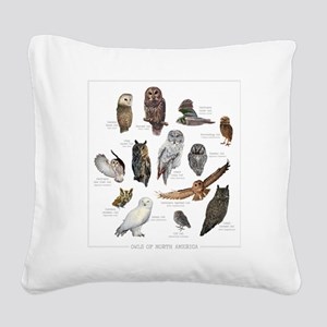OwlSpecies Square Canvas Pillow