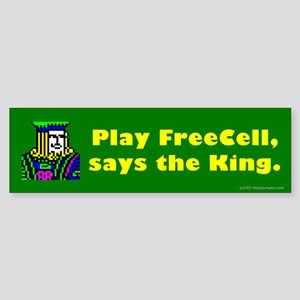 Play FreeCell Bumper Sticker
