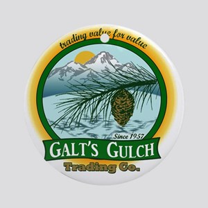 Galts Gulch Tradinc Co - Cirle logo Round Ornament