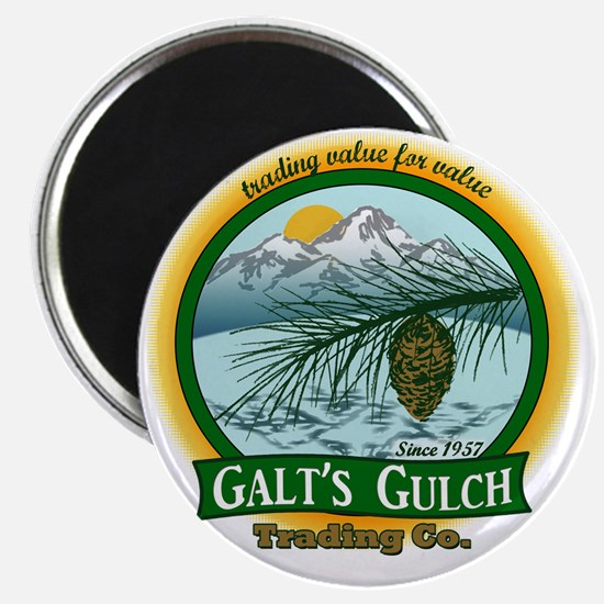 Galts Gulch Tradinc Co - Cirle logo Magnet