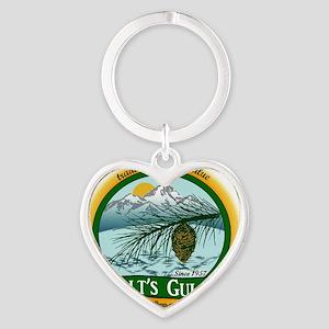 Galts Gulch Tradinc Co - Cirle logo Heart Keychain