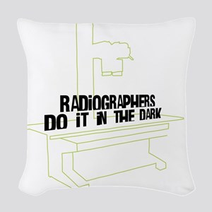 (XL) Radiographers Do It In th Woven Throw Pillow
