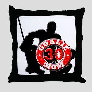 Hockey Goalie Mom #30 Throw Pillow
