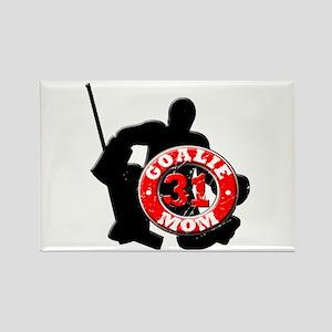 Hockey Goalie Mom #31 Rectangle Magnet