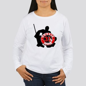 Hockey Goalie Mom #31 Women's Long Sleeve T-Shirt