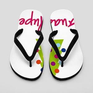 Christmas-tree-Guadalupe Flip Flops