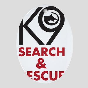 SearchRescue Oval Ornament