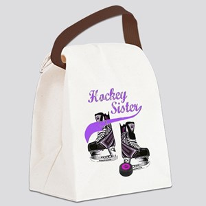 hockey_sister_purple Canvas Lunch Bag
