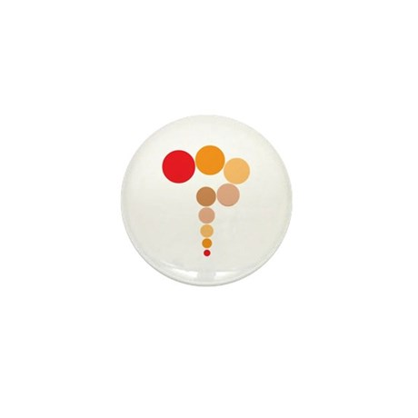 Orange Question Mark Mini Button (10 pack)