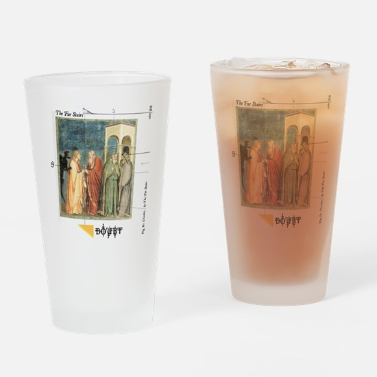 DshirtFront Drinking Glass