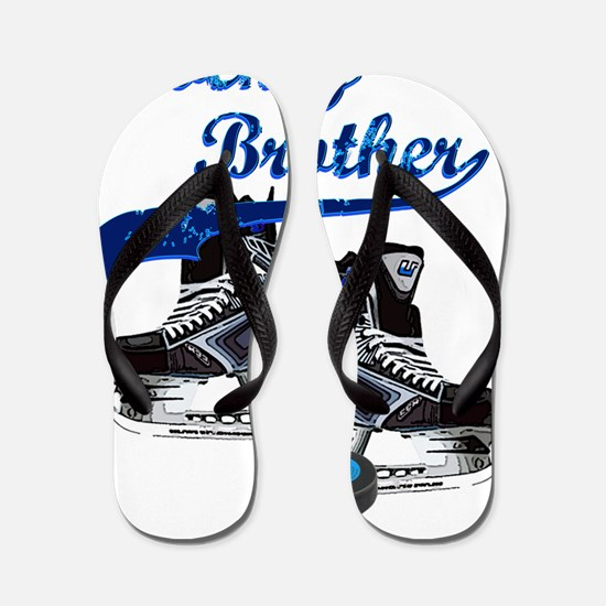 hockey_brother_dark_blue Flip Flops