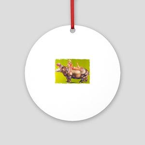 hippofunny Round Ornament