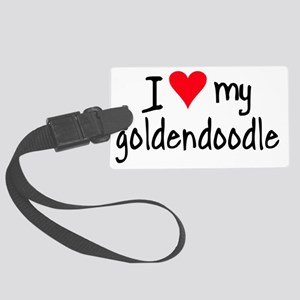 I LOVE MY Goldendoodle Large Luggage Tag