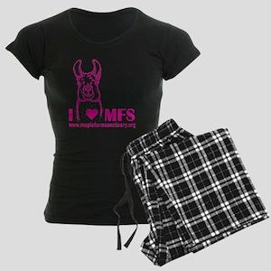 i heart magenta Women's Dark Pajamas