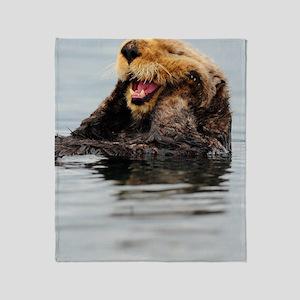 5x8_journal_otter_5 Throw Blanket