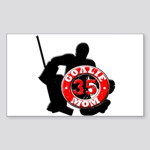 hockey Goalie Mom #35 Rectangle Sticker