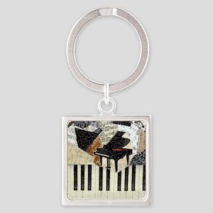 Piano Square Keychain