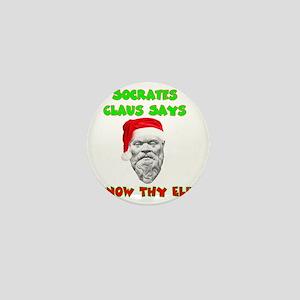 Socrates Claus Dark Mini Button