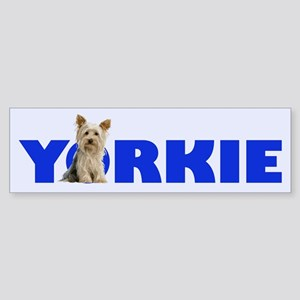 Big Type Little Yorkie- Bumper Sticker