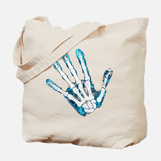 Blue Hand Tote Bag