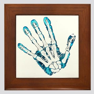 Blue Hand Framed Tile