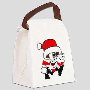 Funny Santa Canvas Lunch Bag