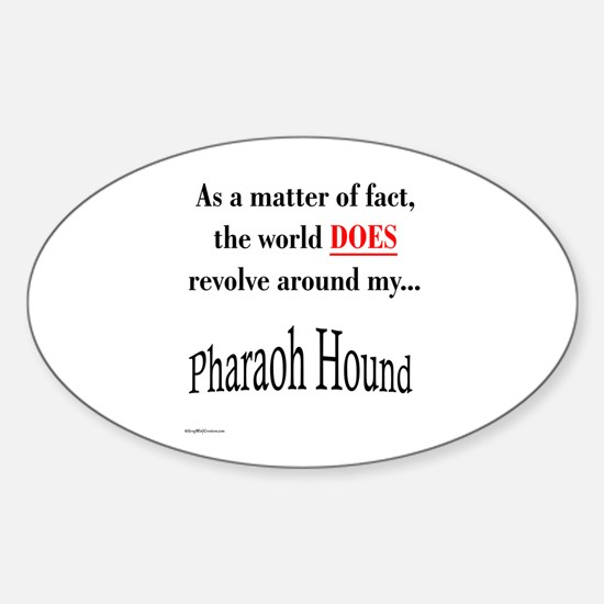 Pharaoh World Oval Decal