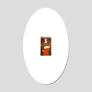Salon 20x12 Oval Wall Decal
