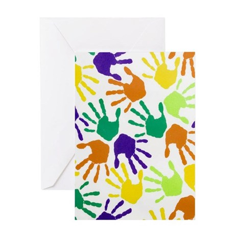 Baby Handprint Greeting Cards CafePress