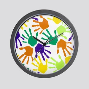 Back to School Handprint copyg Wall Clock