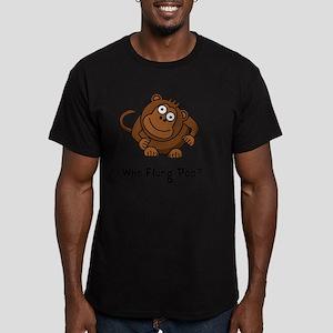 Monkey Flung Poo Black Men's Fitted T-Shirt (dark)