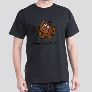 Monkey Flung Poo Black Dark T-Shirt