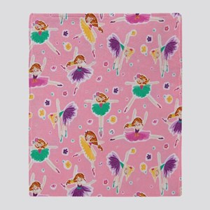 Ballerinas Dancing Throw Blanket