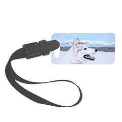 Siberian Husky (Silver and White Luggage Tag