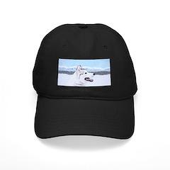 Siberian Husky (Silver and Wh Baseball Hat