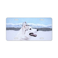 Siberian Husky (Silver and Aluminum License Plate
