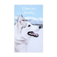 Siberian Husky (Silver and Whi Sticker (Rectangle)