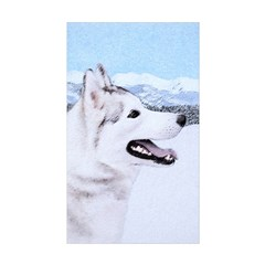 Siberian Husky (Silver a Sticker (Rectangle 50 pk)