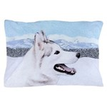 Siberian Husky (Silver and White) Pillow Case